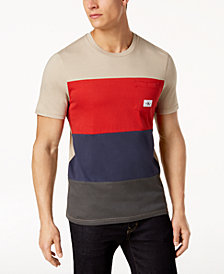 Calvin Klein Jeans Men's Herringbone Colorblocked Chest Pocket T-Shirt