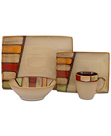 Sango Elements Brown 16-Pc. Dinnerware Set