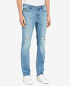 Calvin Klein Jeans Men's Slim-Fit Ripped Stretch Jeans