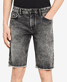 Calvin Klein Jeans Men's Black Salt Slim Fit Denim Shorts