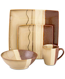 Sango Zanzibar Brown 16-Pc. Dinnerware Set