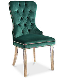 Hevia Velvet Dining Chair, Quick Ship
