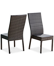 Romani Outdoor Dining Chair (Set of 2), Quick Ship