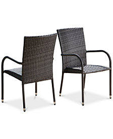CLOSEOUT! Romani Outdoor Dining Arm Chair (Set of 2), Quick Ship