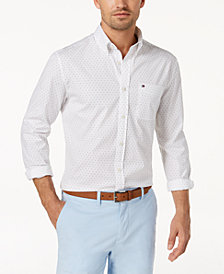 Tommy Hilfiger Men's Jon Mini Star-Print Shirt, Created for Macy's