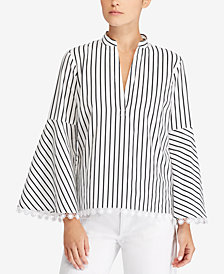 Lauren Ralph Lauren Bell-Sleeve Cotton Top
