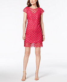Nanette by Nanette Lepore Sheer Appliqué Sheath Dress