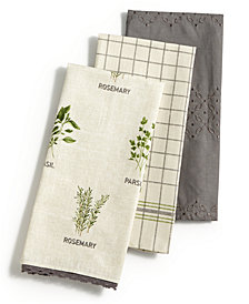 Martha Stewart Collection 3-Pc. Farmhouse Kitchen Towel Set, Created for Macy's