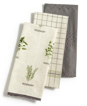 Martha Stewart Collection 3Pc Farmhouse Kitchen Towel Set Created for Macys