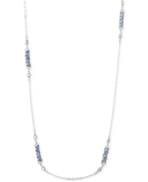 """Carolee SILVER-TONE CRYSTAL 36"""" STATION NECKLACE"""