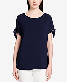 Calvin Klein Tie-Sleeve Top