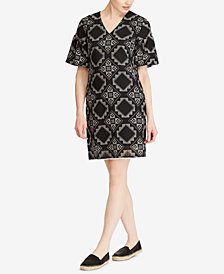 Lauren Ralph Lauren Petite Geo-Print Dress