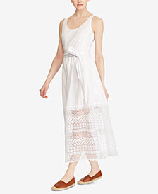 Lauren Ralph Lauren Petite Lace Poplin Dress