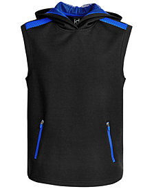 Ideology Big Boys Hooded Mesh-Detail Tank Top, Created for Macy's