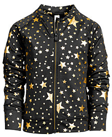 Ideology Big Girls Plus Star-Print Zip-Up Active Jacket, Created for Macy's