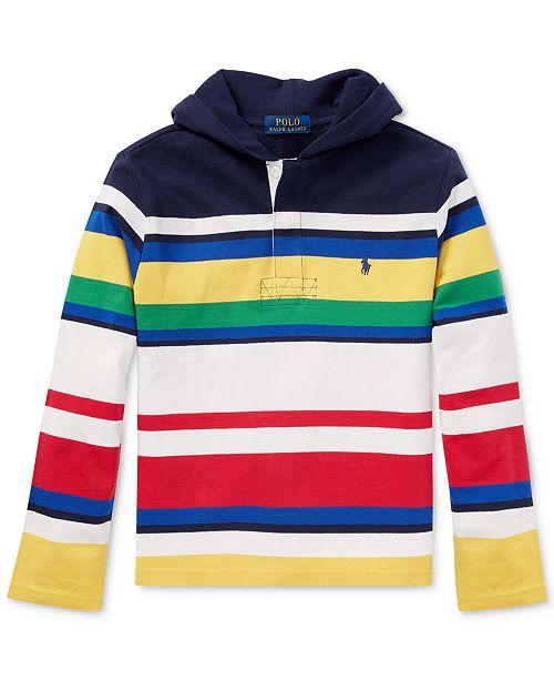 ... Polo Ralph Lauren Ralph Lauren Big Boys CP-93 Striped Cotton Rugby  Hoodie ... 5d550f0dc