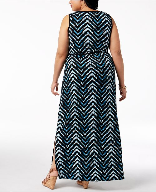 Fox & Royal Trendy Plus Size Printed Maxi Dress & Reviews ...