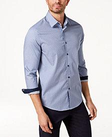Tasso Elba Men's Dot-Print Shirt, Created for Macy's