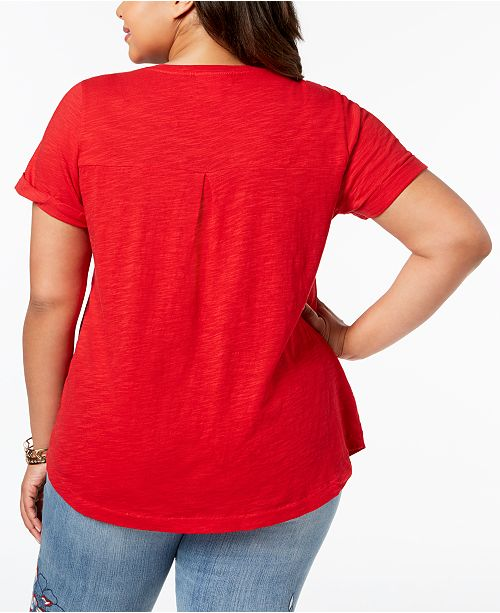 f10b8d0a7 Style & Co Plus Size V-Neck T-Shirt, Created for Macy's & Reviews ...