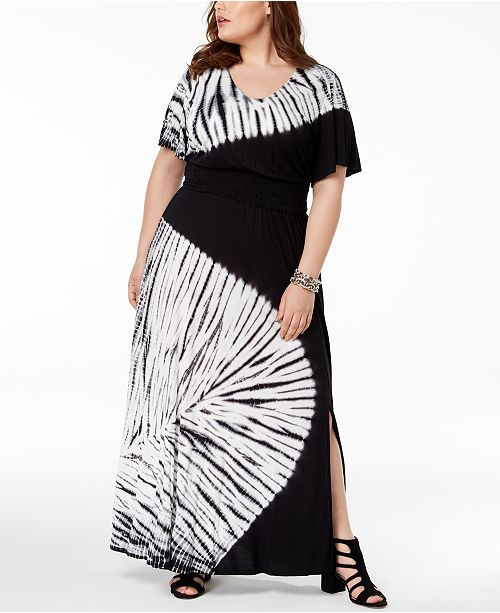 INC International Concepts I.N.C. Plus Size Tie-Dyed Maxi Dress ...
