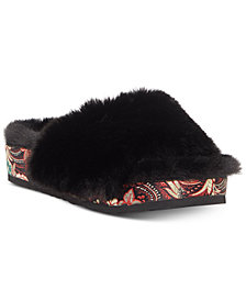 Jessica Simpson Gema Fur Slide Sandals