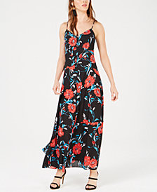 Bar III Floral-Print Maxi Dress, Created for Macy's