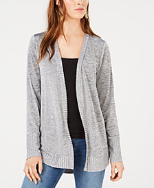 Bar III Marled Open-Front Cardigan, Created for Macy's
