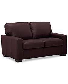 "Ennia 59"" Leather Loveseat, Created for Macy's"