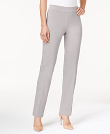 JM Collection Pull-On Tummy Control Slim-Leg Pants, Created for Macy's