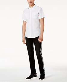I.N.C. Solid Shirt & Striped Jeans, Created for Macy's