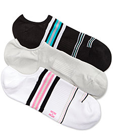 HUE® Women's 3-Pk. Air Sleek Compression Cushioned Liner Socks