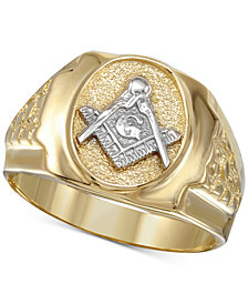 Men's Mason Ring in 10k Gold