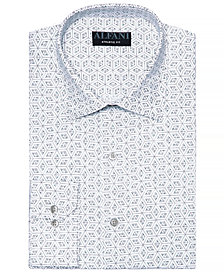 AlfaTech by Alfani Men's Athletic Fit Performance Stretch 3D Window Print Dress Shirt, Created for Macy's