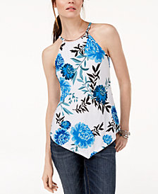 I.N.C. Hardware-Embellished Asymmetrical Top, Created for Macy's