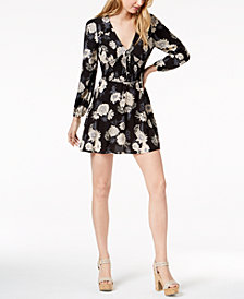 American Rag Juniors' Printed Fit & Flare Dress, Created for Macy's