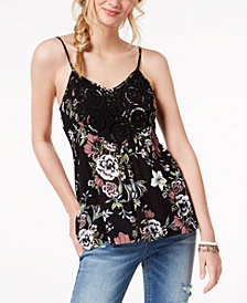 American Rag Juniors' Crochet-Trim Tank Top, Created for Macy's