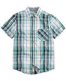 Levi's® Big Boys Plaid Cotton Shirt