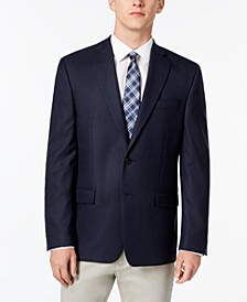 Men's Classic-Fit Ultraflex Stretch Navy Houndstooth Sport Coat
