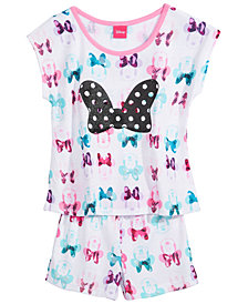 Minnie Mouse Little & Big Girls 2-Pc. Pajama Set, Created for Macy's