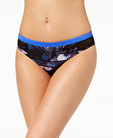 Roxy Juniors' Keep it Scooter Printed Mesh-Side Bikini Bottoms