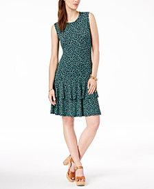 MICHAEL Michael Kors Animal-Print Flounce Dress, Regular & Petite