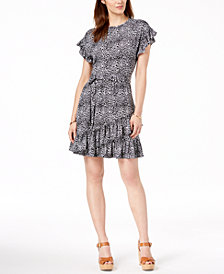 Dress for Women, Evening Cocktail Party On Sale, Black, Cotton, 2017, 10 12 8 Michael Kors