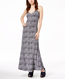 MICHAEL Michael Kors Animal-Print Maxi Dress