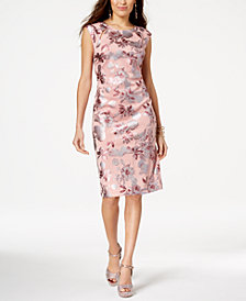 Thalia Sodi Floral-Print Sheath Dress, Created for Macy's