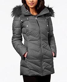 Marc New York Faux-Fur-Trim Puffer Coat
