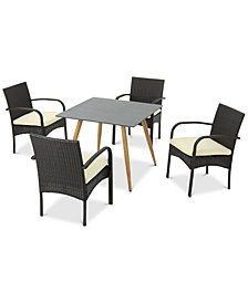Harrison 5-Pc. Outdoor Dining Set, Quick Ship