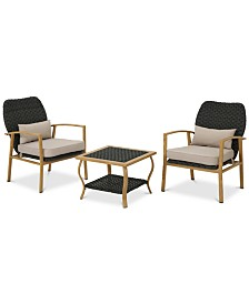 Winston 3-Pc. Outdoor Chat Set, Quick Ship