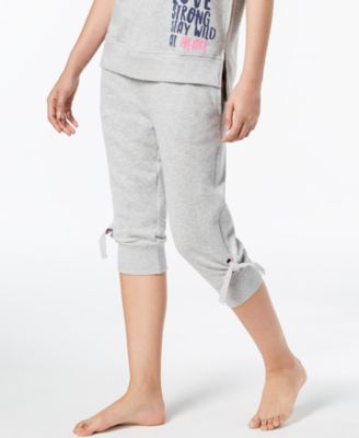 Tie-Detail Jogger Pajama Pants