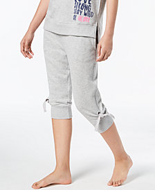 HUE® Tie-Detail Jogger Pajama Pants