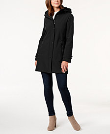 Calvin Klein Petite Hooded A-Line Coat